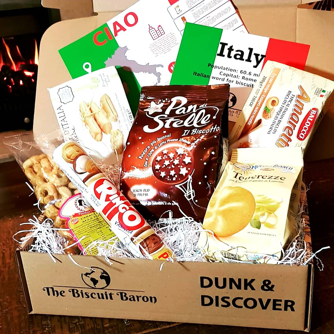 BISCUITS FROM AROUND THE WORLD - ITALY BISCUIT BOX