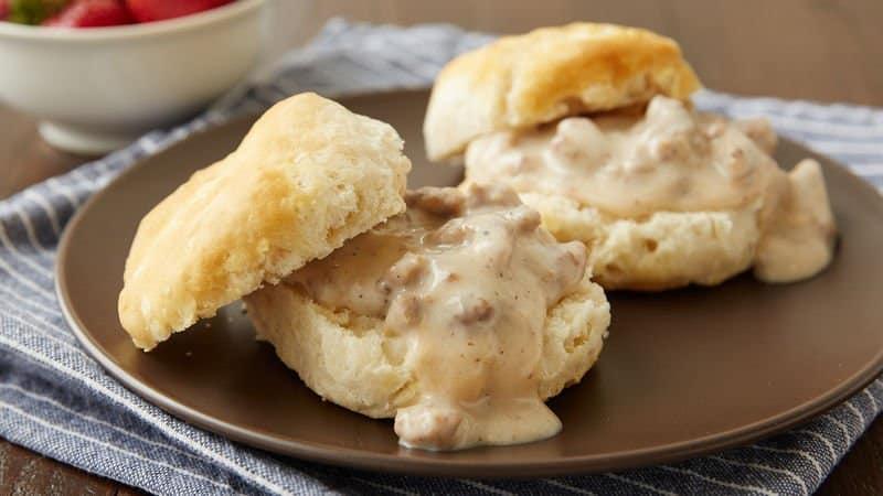 biscuits gravy